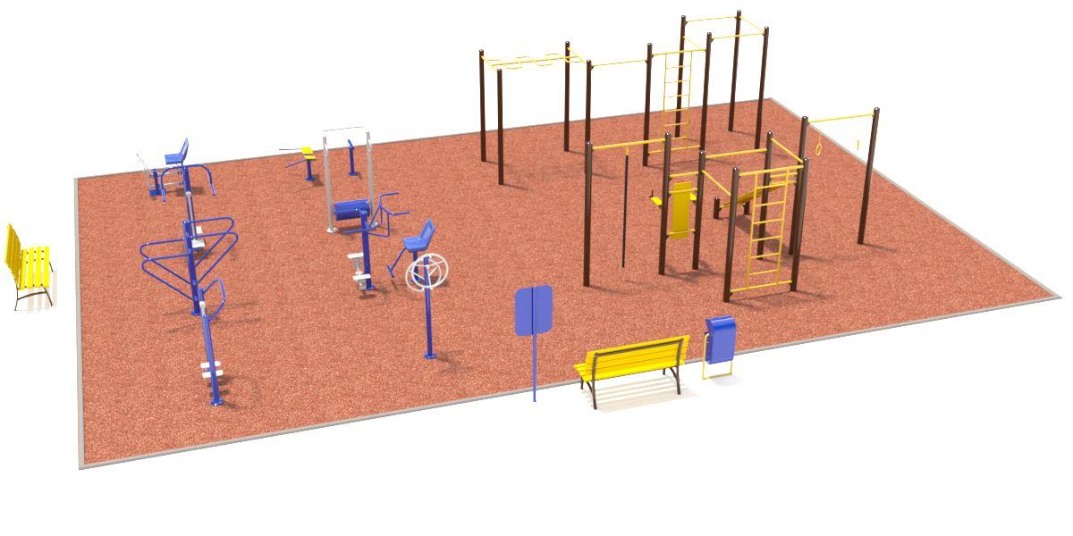 Спортивная площадка №1 (10x15)