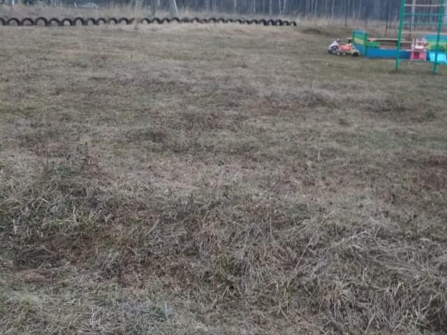 Обустройство детской игровой площадки в д.Качалово Ясногорского района