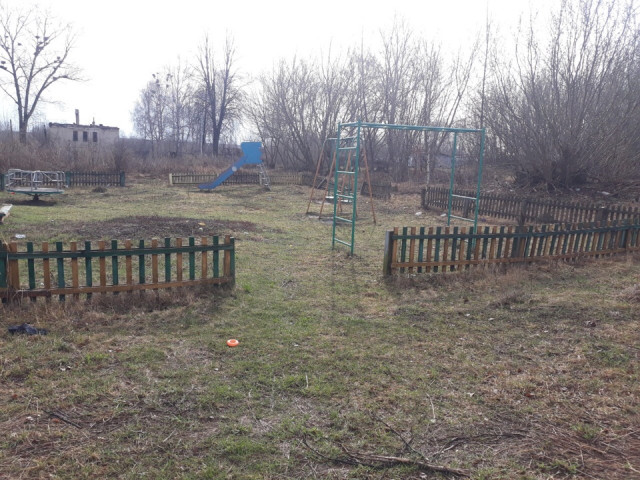 Обустройство детской игровой площадки в поселке Казановка улица Центральная Кимовский район