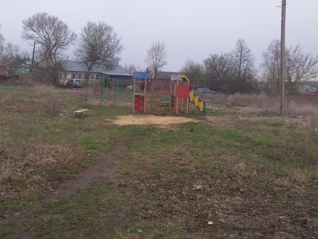 Обустройство детской игровой площадки село Новое село, Киреевского района, Тульской области.