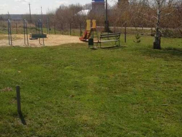 Обустройство детской площадки в селе Папоротка, улица Центральная, Богородицкого района