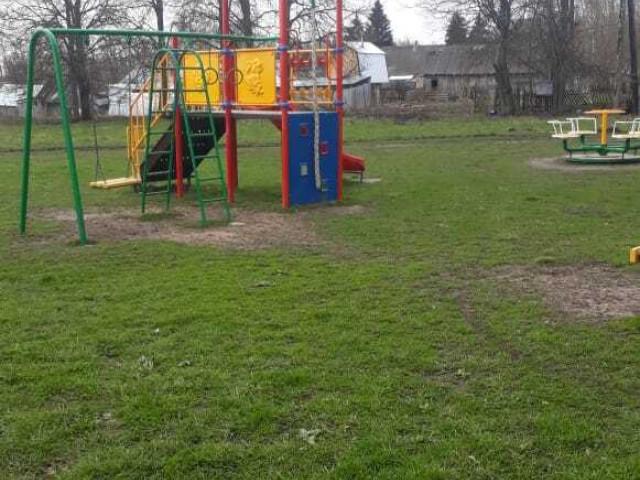 Обустройство спортивной площадки в поселке Алимкина Щекинского района в районе дома №4